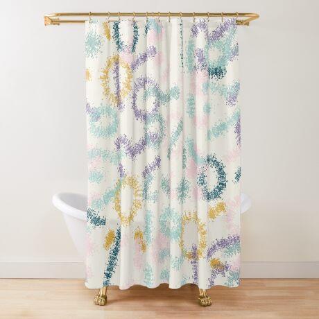 Playful #redbubble #abstractart Shower Curtain
