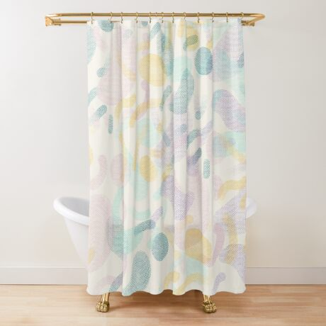 Dotted Blobs #redbubble #abstractart Shower Curtain
