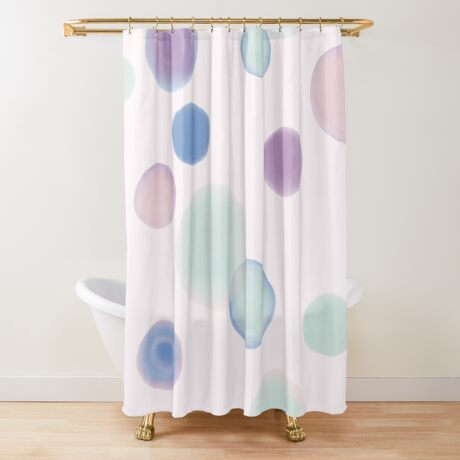 Drops #redbubble #abstractart Shower Curtain