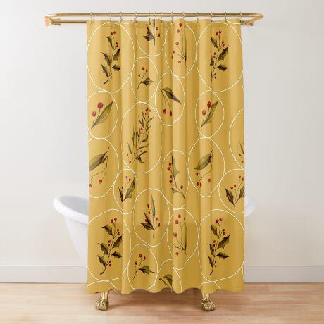 Cozy Baubles #redbubble #xmas Shower Curtain