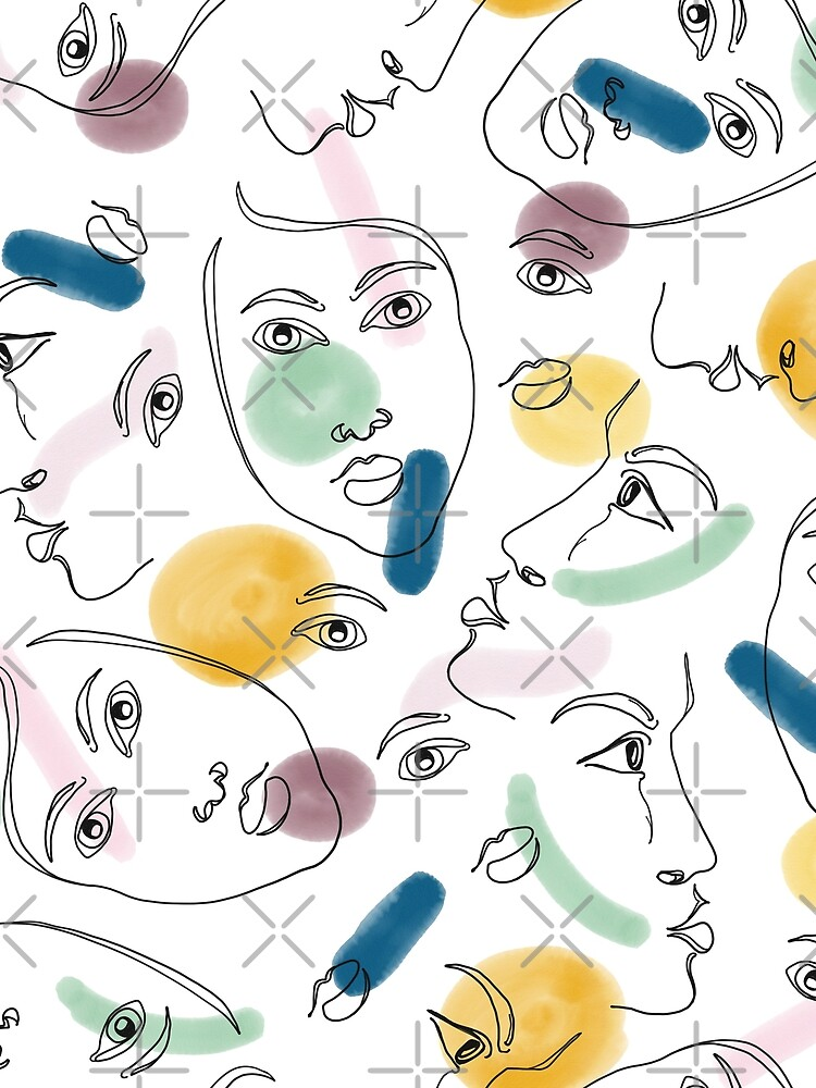Female Portraits #redbubble #figurative by designdn