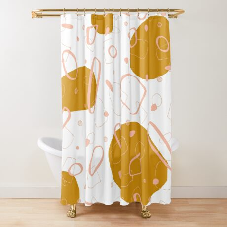 Doodle Pattern 03 #redbubble #doodle #pattern Shower Curtain