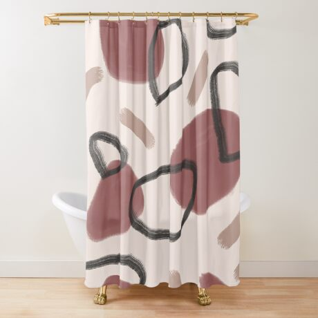 Abstract Fall II #redbubble #abstractart Shower Curtain