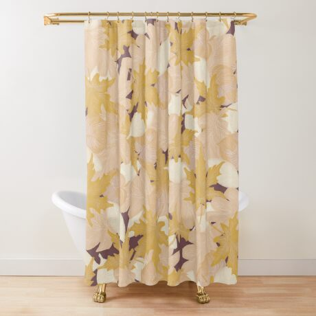 Muted Fall #redbubble #fall Shower Curtain