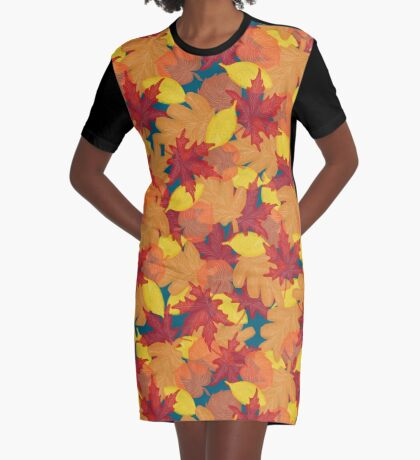 Bright Fall #redbubble #fall Graphic T-Shirt Dress