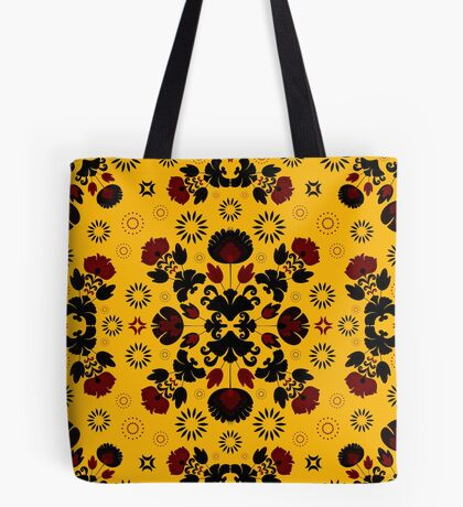 Fiesta Folk Yellow #redbubble #folk Tote Bag