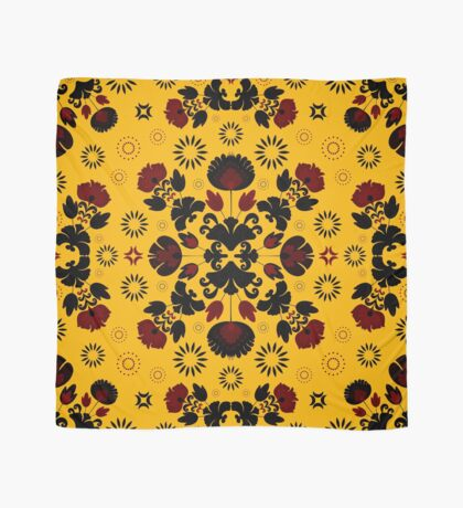 Fiesta Folk Yellow #redbubble #folk Scarf