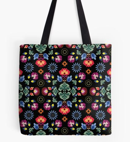 Fiesta Folk Black #redbubble #folk Tote Bag