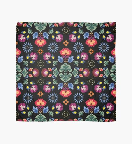 Fiesta Folk Black #redbubble #folk Scarf