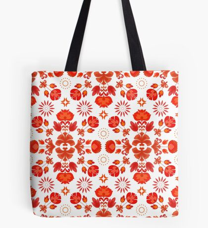 Fiesta Folk Red #redbubble #folk Tote Bag