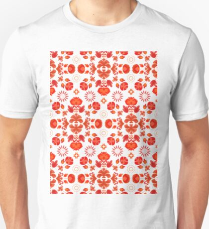 Fiesta Folk Red #redbubble #folk T-Shirt