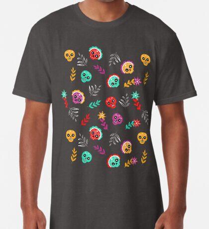 Fiesta Skulls #redbubble #skulls Long T-Shirt