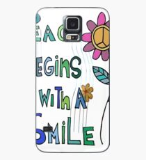 Peace Begins With A Smile Case/Skin for Samsung Galaxy