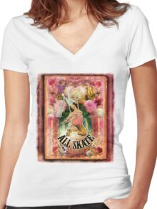 2012 Cirque du Collage page 3 Women's Fitted V-Neck T-Shirt