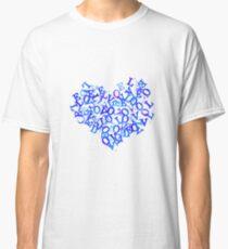 Heart full of love - blue Classic T-Shirt