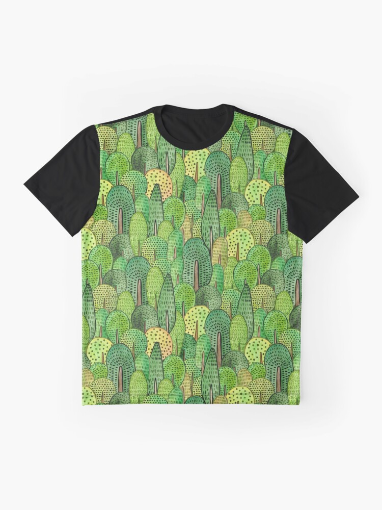 Alternative Ansicht von Aquarell Wald Grafik T-Shirt