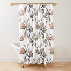 Watercolor Magnolia in Autumn Shower Curtain