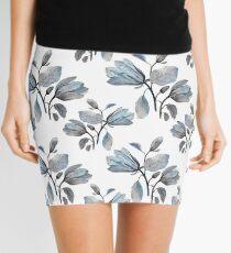 Dusty Blue Magnolia Pattern Mini Skirt