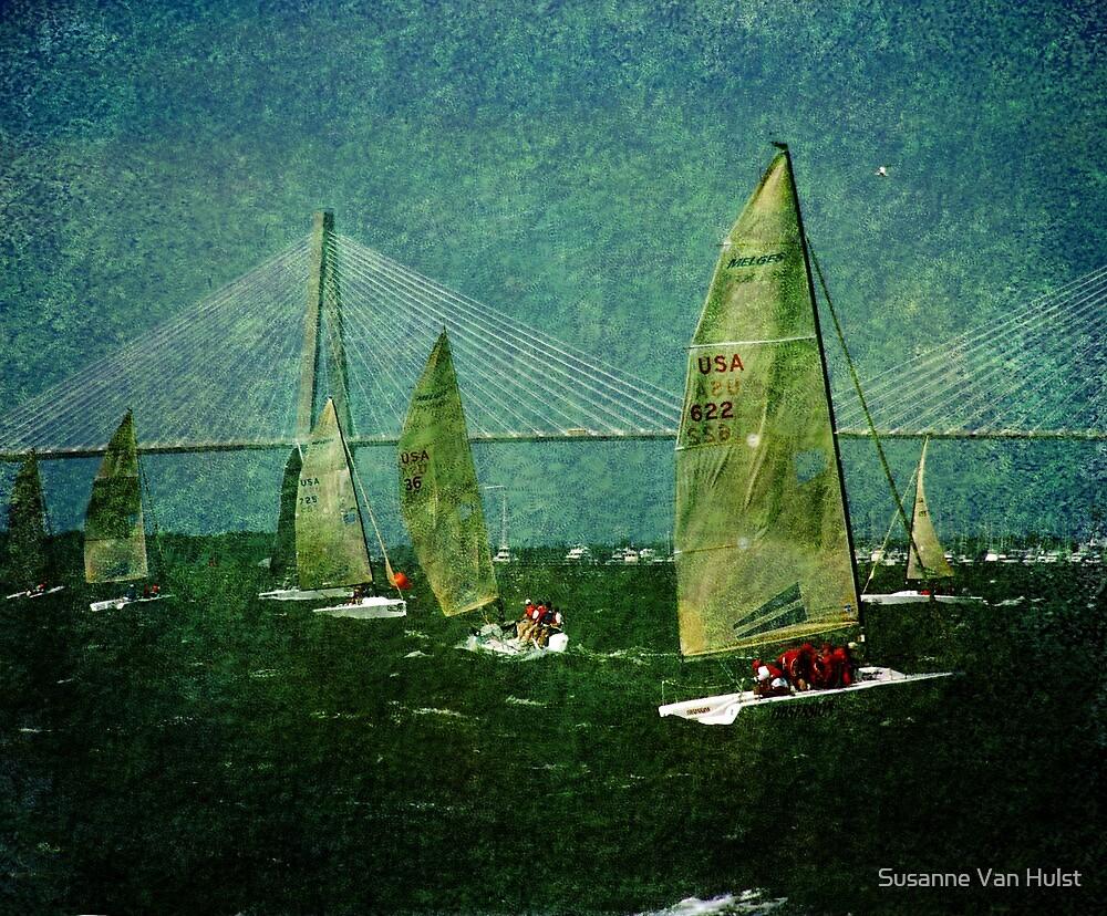 Sailing Regatta in Charleston SC by Susanne Van Hulst