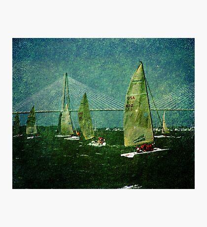 Sailing Regatta in Charleston SC Photographic Print