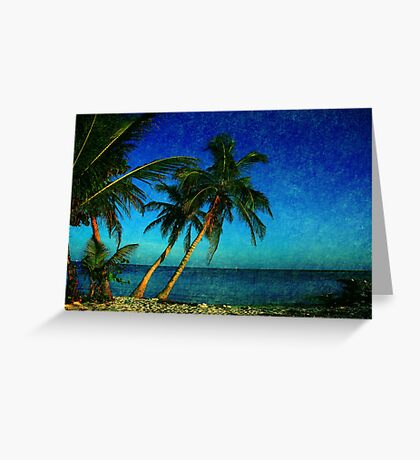 Palm Trees and the Beach in Key West Greeting Card