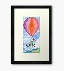 Bycicle Balloon Framed Print