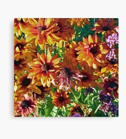 A Summer Flower Garden Canvas Print