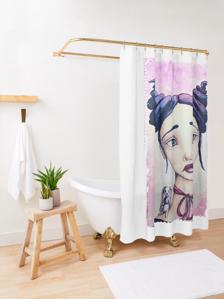 Alternate view of Bunny and Me Shower Curtain