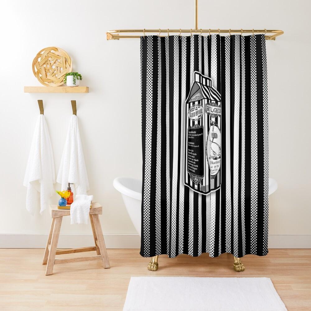 Beetle Juice Shower Curtain