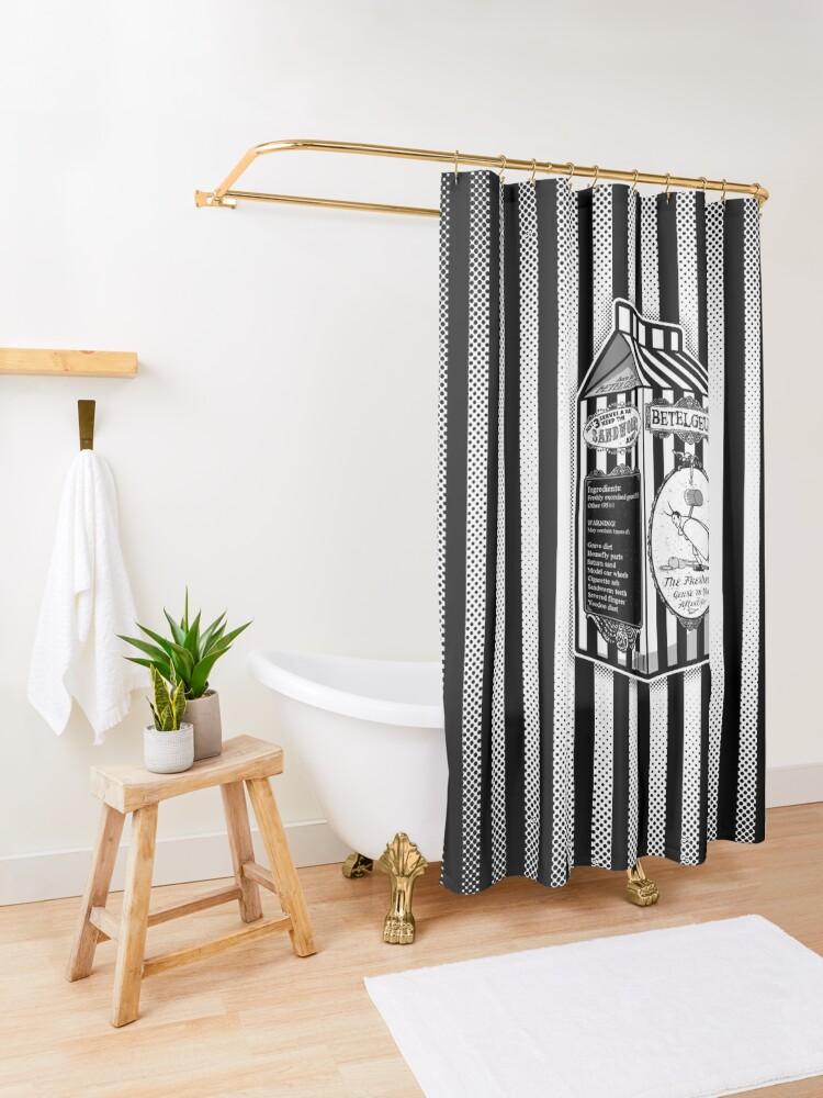Alternate view of Beetle Juice Shower Curtain