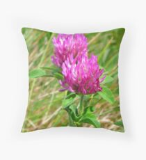 Red Clover (Trifolium pratense) Throw Pillow