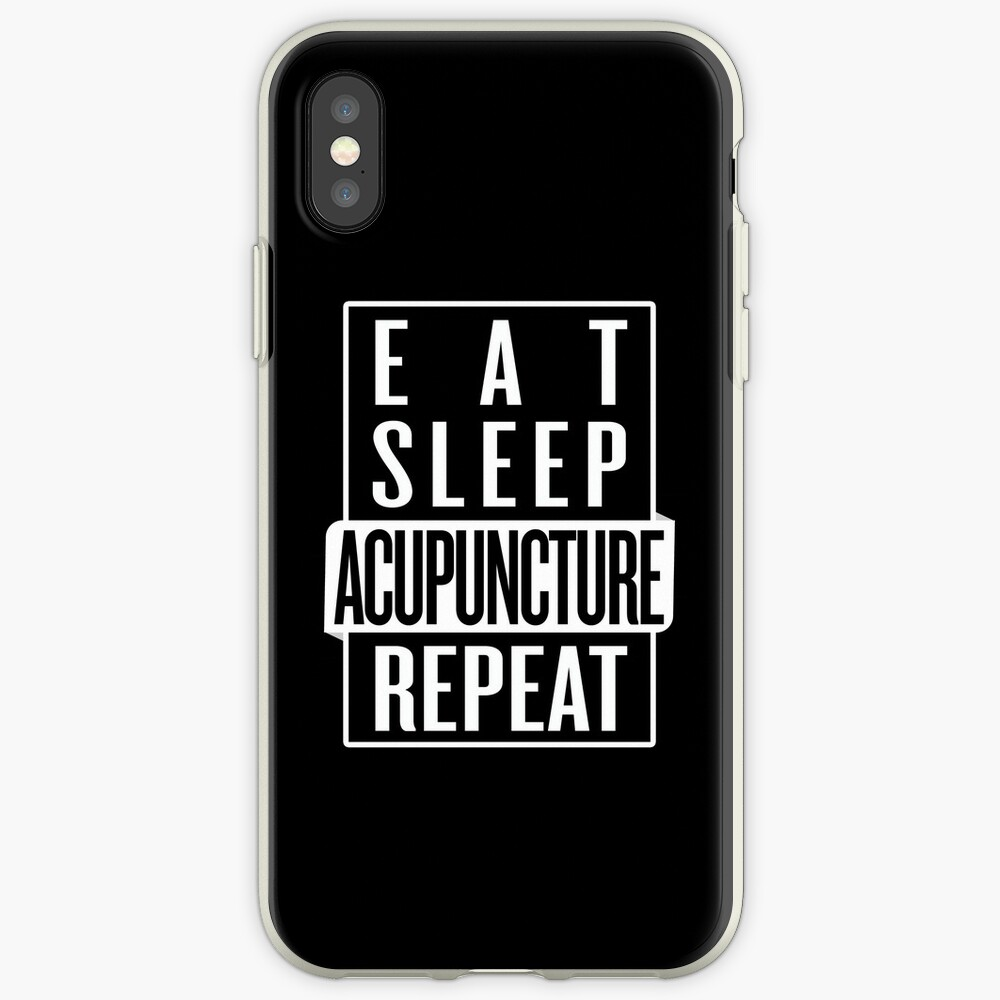 Eat Sleep Acupuncture Repeat iPhone Case & Cover