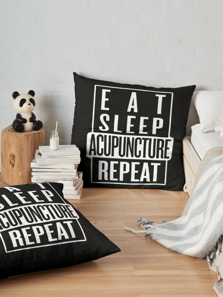 Alternate view of Eat Sleep Acupuncture Repeat Floor Pillow