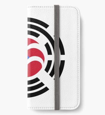 Puerto Rican Korean Multinational Patriot Flag Series iPhone Wallet