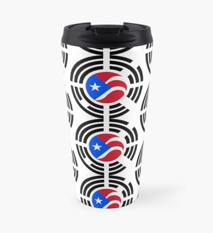 Puerto Rican Korean Multinational Patriot Flag Series Travel Mug