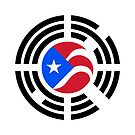 Puerto Rican Korean Multinational Patriot Flag Series by Carbon-Fibre Media