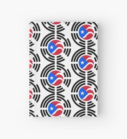 Puerto Rican Korean Multinational Patriot Flag Series Hardcover Journal