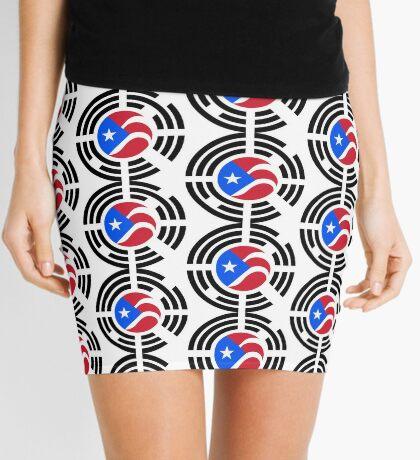 Puerto Rican Korean Multinational Patriot Flag Series Mini Skirt