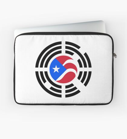 Puerto Rican Korean Multinational Patriot Flag Series Laptop Sleeve