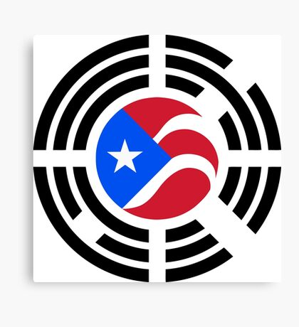 Puerto Rican Korean Multinational Patriot Flag Series Canvas Print