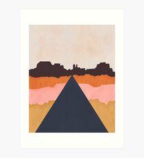 Cool Wind Desert Road Art Print