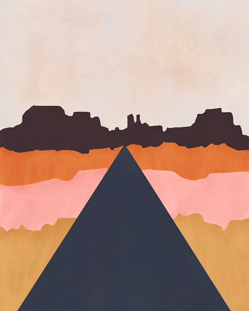 Cool Wind Desert Road by BirdsongPrints