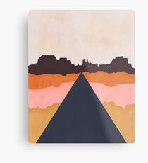 Cool Wind Desert Road Metal Print