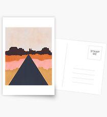 Cool Wind Desert Road Postcards
