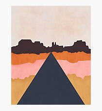 Cool Wind Desert Road Photographic Print