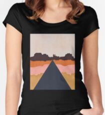 Cool Wind Desert Road Fitted Scoop T-Shirt