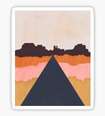 Cool Wind Desert Road Glossy Sticker