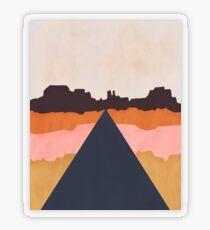 Cool Wind Desert Road Transparent Sticker