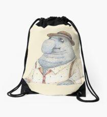 Elephant seal Drawstring Bag