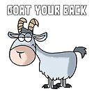 «Cabra tiene su espalda Funny Goats Pun» de Maljonic